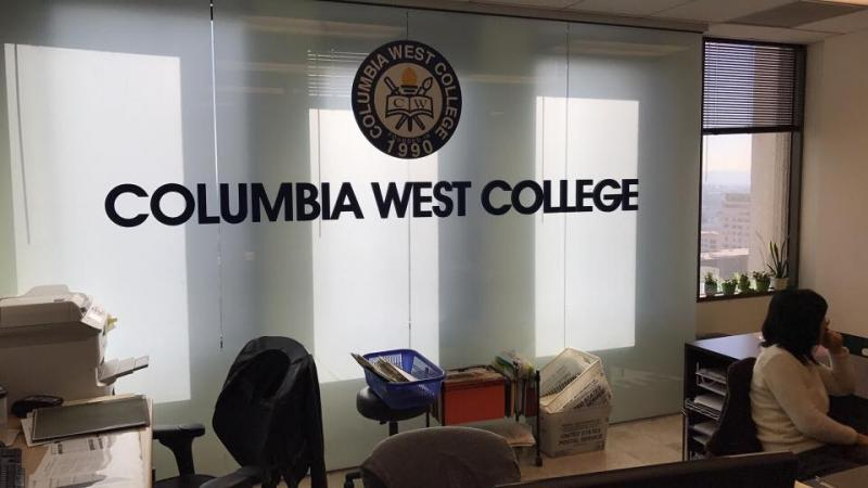 Columbia West Collegeの看板