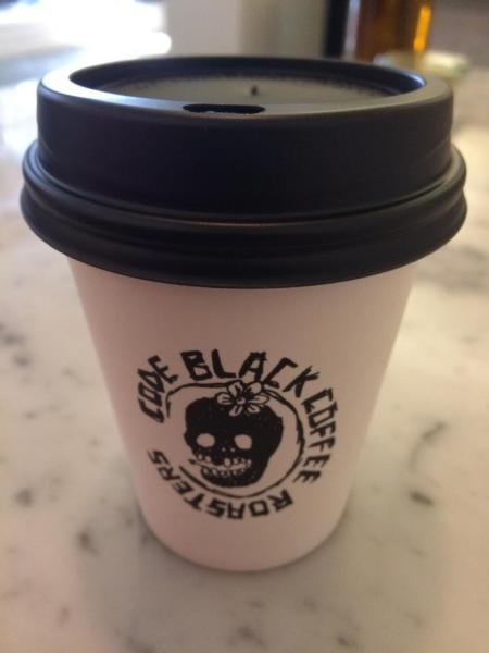 Code Black Coffee Roastersの紙コップ