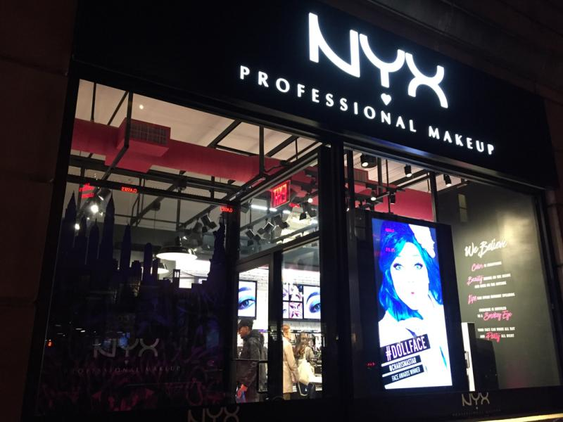 NYX Professional Makeupの外観です