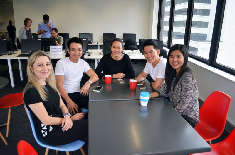 SACE Melbourne College of Englishに留学中の生徒