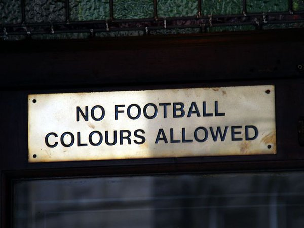 No colours allowed