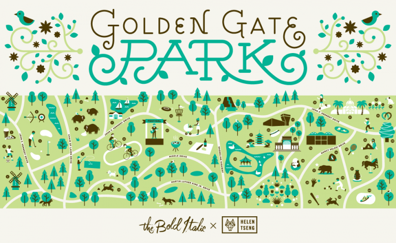 Golden Gate Parkの全体図