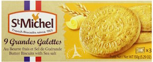 St Michel La Grande Galette Butter Cookies, Sea Salt, 5.3 Ounce