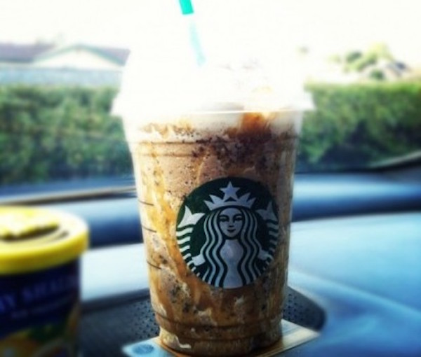Caramel and Nut Chocolate Bar Frappuccino