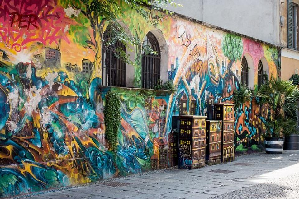街と自然が調和したストリートアート